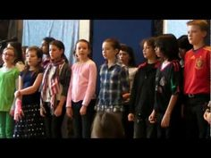 Two Trees sung by Waldorf 5-6th grader chorus w guitar