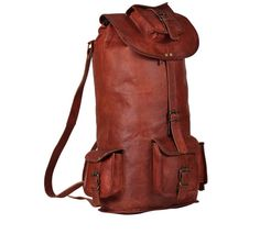 Large Men's Leather Backpack from high on leather #leatherbackpack #backpack #rucksack