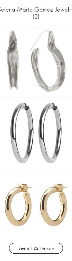 """Selena Marie Gomez Jewelry (2)"" by taught-to-fly19 on Polyvore featuring jewelry, earrings, hoop earrings, silver jewellery, jennifer fisher, silver hoop earrings, silver jewelry, jennifer fisher jewelry, earring jewelry e square earrings"
