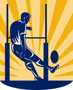 Find Vector Illustration Rugby Player Kicking Goal stock images in HD and millions of other royalty-free stock photos, illustrations and vectors in the Shutterstock collection. Sports Website, Olympic Sports, Rugby Players, Sports Art, Cartoon Art, Kicks, Clip Art, Goals, Stock Photos