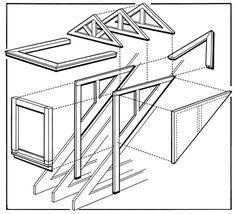 croquis de la charpente type d 39 un mur dans un b timent avec charpente poteaux toiture. Black Bedroom Furniture Sets. Home Design Ideas