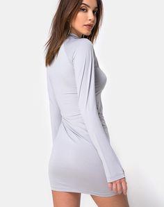 Anegan Bodycon Dress in Grey Motel by Motel  082272e57