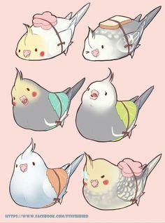 Image result for chibi kawaii bird drawing