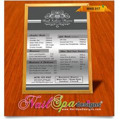 Menu Board Template For Nail Salon Visit WwwNailspadesignsCom