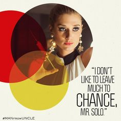 When you're in the business of killing, it's always best to be sure. #ManFromUNCLE #ElizabethDebicki
