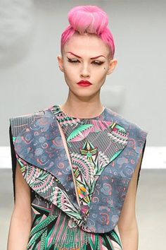 manish arora the unusal layering and structure caught my attention first rather than the print