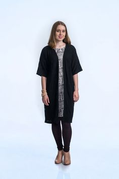 KAINO Knitted Deer Kimono Aw17, Merino Wool, Knitwear, Duster Coat, Kimono, Sleeves, Model, Cotton, Jackets