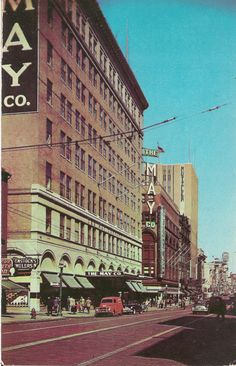 The May Co. Department Store on Howard St. This store later became the Hecht Co.