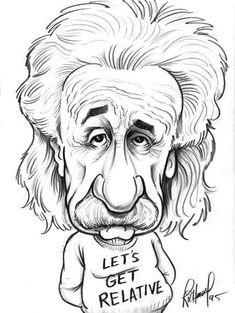 Albert Einstein by Tom Richmond. | tatuaje | Pinterest | Einstein ...