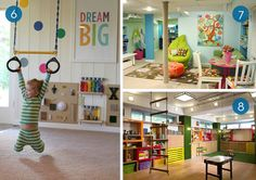 Eye Candy: 10 Inspiring Kids Playrooms... Help me set up his place in the basement!
