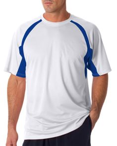 Badger Adult B-Dry Short-Sleeve Two-Tone Hook Tee,Badger – be aggressive with your promotions at Gotapparel.com.