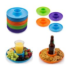 These are awesome for summer time - They are a plate that carries your cups. Also a nice picnic accessory!