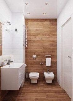 Efecto madera en el baño
