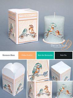 Stampin'Up! by Djudi'Scrap - Tutoriel Boîte Cadeau Rosace et sa Bougie «Set Drôles d'Oiseaux/ Bird banter Stamp set »
