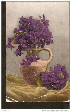 5k. Flora - Flowers - Viola Violet pansy - passed FeldPost in 1918
