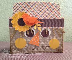 Scarecrow Card from Envelope Liner Framelits