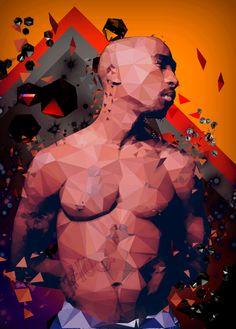 Shakur by Ignacio Ribot, via Behance 2pac, Tupac Shakur, Tupac And Biggie, Tupac Art, Hip Hop Art, Rap God, Best Rapper, Illusion Art, Thug Life