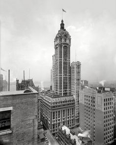 (c. 1908) The Singer Building, NYC