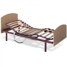 Somier Eléctrico Nule. La cama articulada eléctrica modelo Nules tiene un lecho de 4 planos y 3 articulaciones. Fácil de manejar con el mando con cable que acciona todos los movimientos. Doble lama con tensores en zona lumbar.