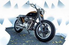 Honda CB400N Brat Style by JeriKan Motorcycles #motorcycles #bratstyle #motos | caferacerpasion.com
