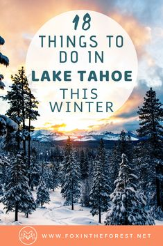The best things to do in Lake Tahoe in winter. Vacation activities including things to do in Incline Village Nevada South Lake Tahoe Emerald Bay and more. Best winter photography spots hiking skiing and views. Lake Tahoe Vacation, South Lake Tahoe Hikes, South Tahoe, Ski Vacation, Lake Tahoe Winter, Tahoe Snow, Lac Tahoe, Incline Village, Adventure Travel