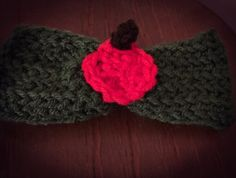 Collar bow with apple fall neckwear for pet crochet bow tie