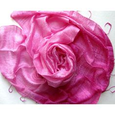 Pink Silk Shawl Handwoven Pure Raw Silk Accessories Wedding Shawl... (€21) ❤ liked on Polyvore featuring accessories and scarves