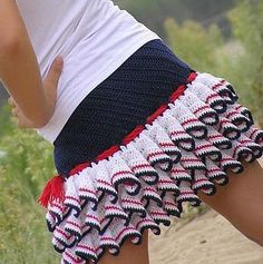 crochet skirt with charts.