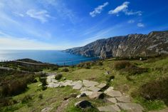 The stunning heights of Slieve League will always take your breathe away. This is the viewing point of Bunglass county Donegal Ireland Ireland Landscape, Donegal, Landscape Photos, Breathe, Landscapes, Travel, Paisajes, Scenery, Viajes