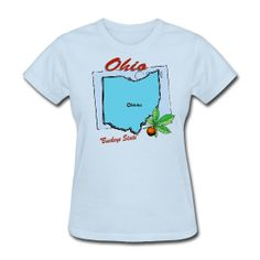Ohio T-Shirt For Women sold exclusively at PersonalizedSouvenirs.com.