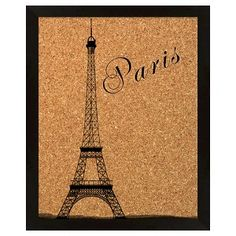 Paris With Eiffel Tower Memory Board
