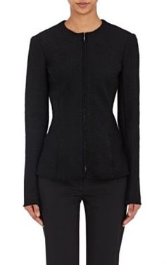 THE ROW Stanna Bouclé Zip-Front Jacket. #therow #cloth #jacket