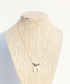 Double Horn and Bead Necklace
