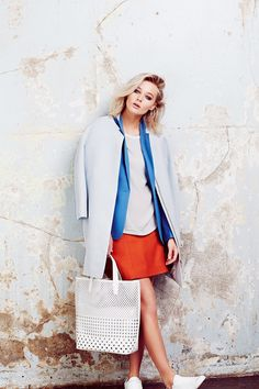 SUMMER TAILORING:  Cut a sharp figure this season with mis-matched tailored separates in block colours and icy pastels, finished with sporty accessories. www.elleuk.com/mcarthurglenuk #promo