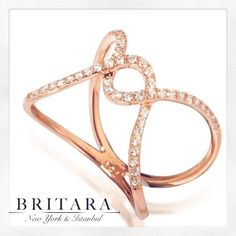 Promise Ring in Rose Gold, Made with only the best quality diamonds in New York💎 Quality Diamonds, Promise Rings, Heart Ring, Fine Jewelry, Rose Gold, Good Things, York, Engagement Rings, Instagram Posts