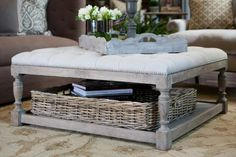 Footstool Coffee Table Combo