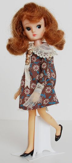 "9"" first generation Licca-chan doll, the very first Licca doll to be released, Japan, 1967-68, by Takara."
