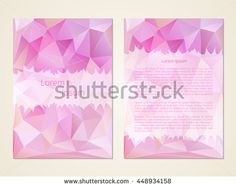 Business card in pink color. Making invitations, leaflets, banners. Blank cover. Office Style. The layout of the poster. Vector illustration