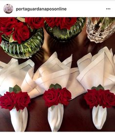 Napkin folding More - Canacan Party Decoration, Wedding Decorations, Christmas Decorations, Table Decorations, Table Setting Design, Table Settings, Design Table, Cloth Napkin Folding, Folding Napkins