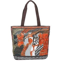 Laurel Burch Moroccan Mares Shoulder Tote Bag Zipper Top, 18' x 15' x 5' -- Find out more about the great product at the image link. (This is an Amazon Affiliate link and I receive a commission for the sales)