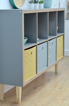 The Crazy Kitchen: How to Create a Sideboard with Tapered Legs using IKEA Kallax