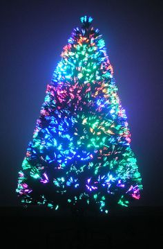 6′ Artificial Fiber Optic w/ LED Lights Holiday Lighted Christmas ...