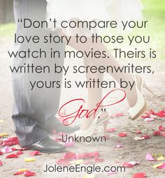 Don't compare your love story...