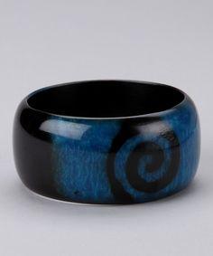 Blue Swirl Bangle