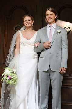 House's Chase and Cameron wed Jennifer Morrison in House wearing Le Spose di Gio #celebrity #bride