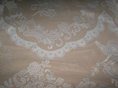 White Christmas Angel Lace Tablecloth 80 inch X 58 Polyester Rectangle Scallop B