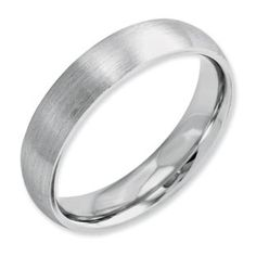 Men's 5MM Satin Finish Domed Cobalt Wedding Ring Available Exclusively at Gemologica.com