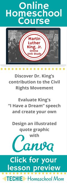 Try the Martin Luther King Jr. Online Unit Study. This online homeschool courses…