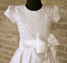 Couture First Communion Dress ~ Communion Dresses ~ Confirmation Dress ~ www.CouturesbyLaura.etsy.com