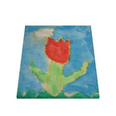 Art by Children, Watercolor Painting,Tulip, Canvas http://www.zazzle.com/art_by_children_watercolor_painting_tulip_canvas-192356762795067850 Gallery Wrapped Canvas